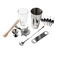 Boston Cocktail Shaker Set - Stainless Steel (11 pieces)