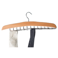 Wooden Hanger fits 24 Ties and  Belts