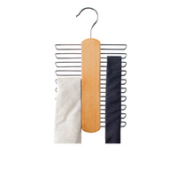 Wooden Hanger fits 20 Ties and  Belts