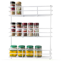 Kitchen Pantry Spice Rack -  White 3 Tier