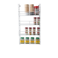 Kitchen Pantry Spice Rack -  White 4 Tier