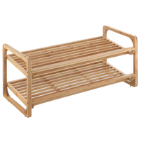 Bamboo Shoe Rack 2 Tier