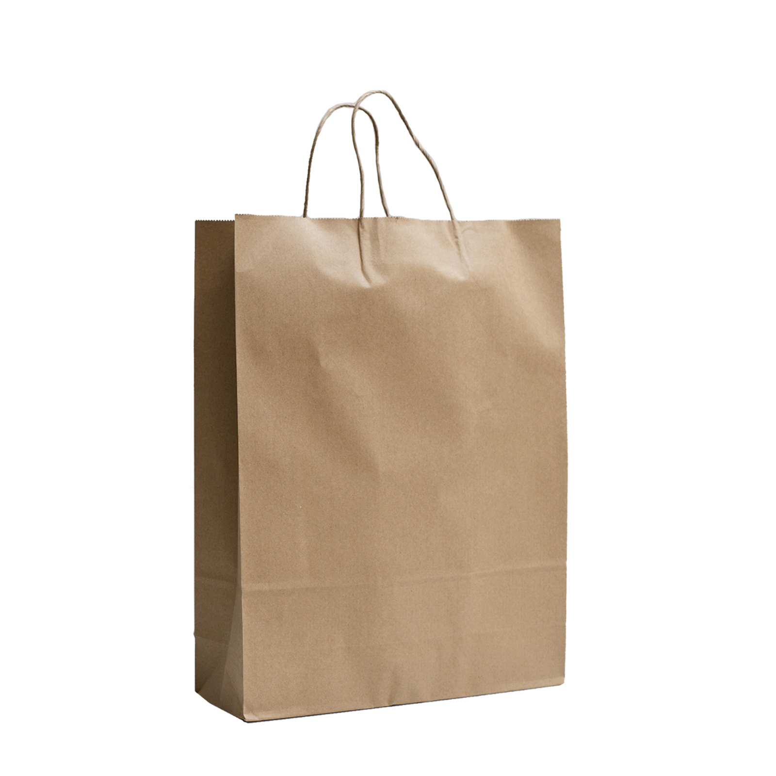 Brown Kraft Paper Gift Carry Craft Shopping Bags With
